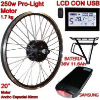 "KIT PRO-LIGHT 250W LCD USB 20"" BATERÍA RT 11.6 Ah"