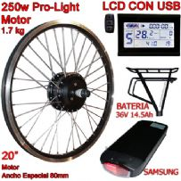 "KIT PRO-LIGHT 250W LCD USB 20"" BATERÍA RT 14.5 Ah"