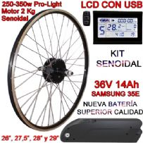 KIT PRO-LIGHT 250-350W LCD USB BATERÍA FR4 14Ah