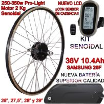 KIT PRO-LIGHT 250-350W LCD6 USB BATERÍA FR4 10.4Ah