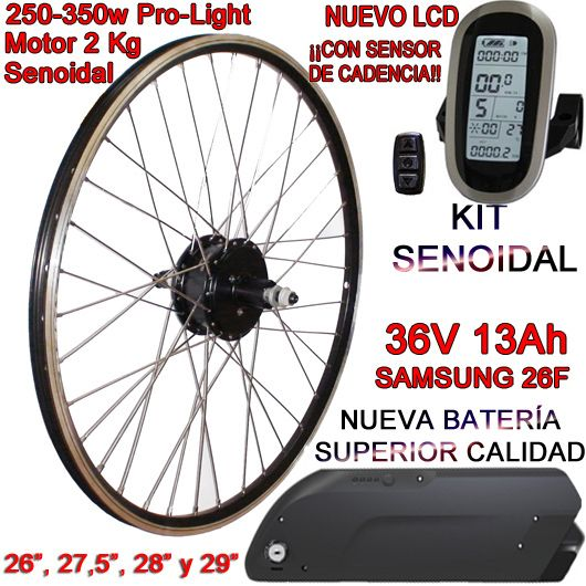 KIT PRO-LIGHT 250-350W LCD6 USB BATERÍA FR5 13Ah