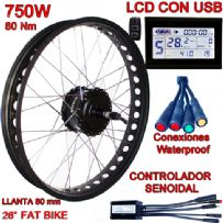 KIT FAT BIKE 750W BAFANG CST LCD SIN BATERÍA