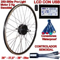 KIT PRO-LIGHT 250-350W LCD USB SIN BATERÍA
