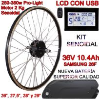 KIT PRO-LIGHT 250-350W LCD USB BATERÍA FR4 10.4Ah