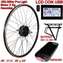 KIT PRO-LIGHT 250-350W LCD USB BATERÍA RT 14.5Ah