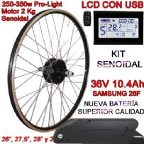 KIT PRO-LIGHT 250-350W CST LCD INTEGRA FR4 10.4Ah