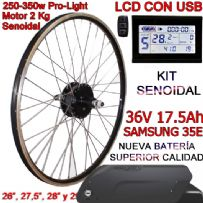 KIT PRO-LIGHT 250-350W CST LCD INTEGRA FR5 17.5Ah