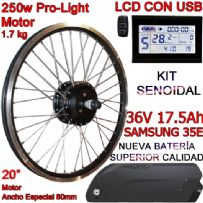 "KIT PRO-LIGHT 250W LCD USB 20"" BATERÍA FR5 17.5Ah"